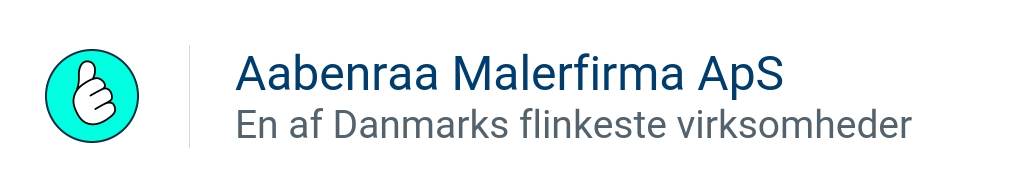 Aabenraa Malerfirma ApS - En af Danmarks flinkeste virksomheder